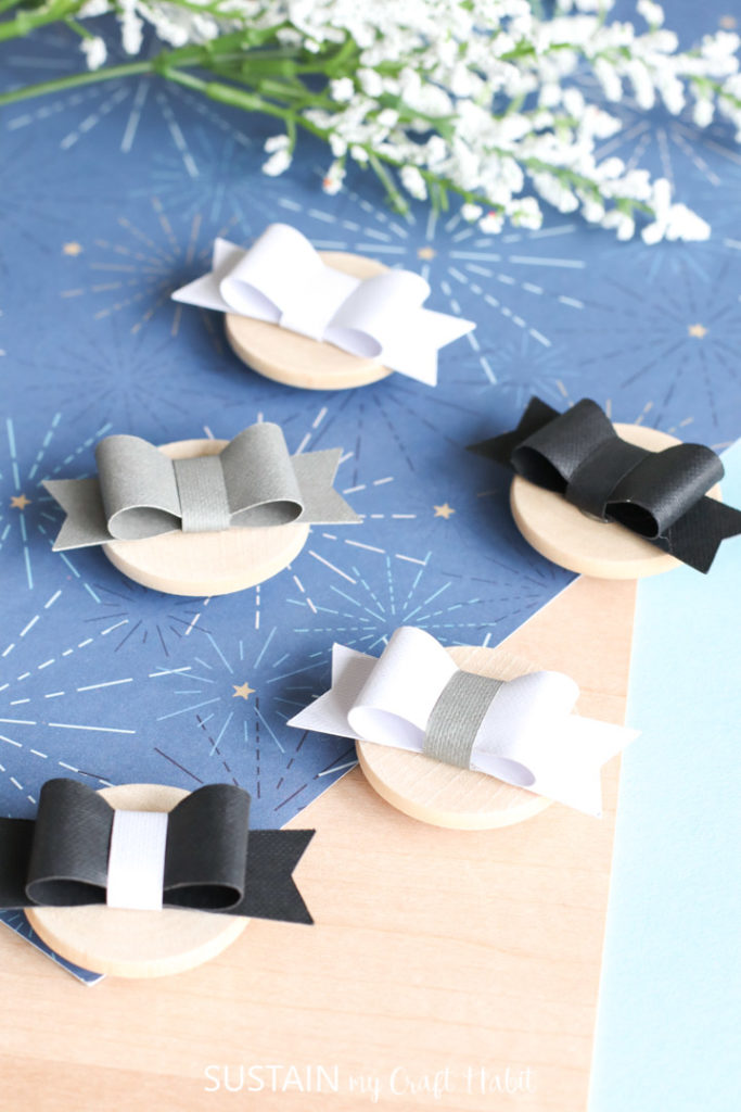 Paper bow magnets.