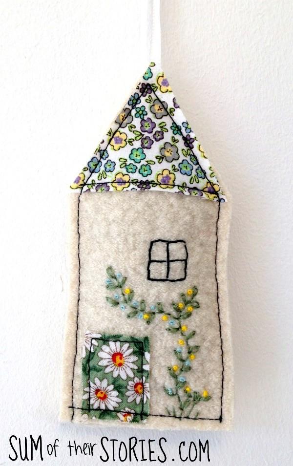 lavender craft little house bag