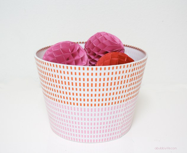 ikea hack ideas turning a lampshade into a storage bin.
