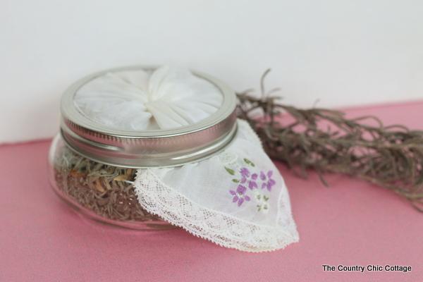 lavender craft air freshener in amason jar