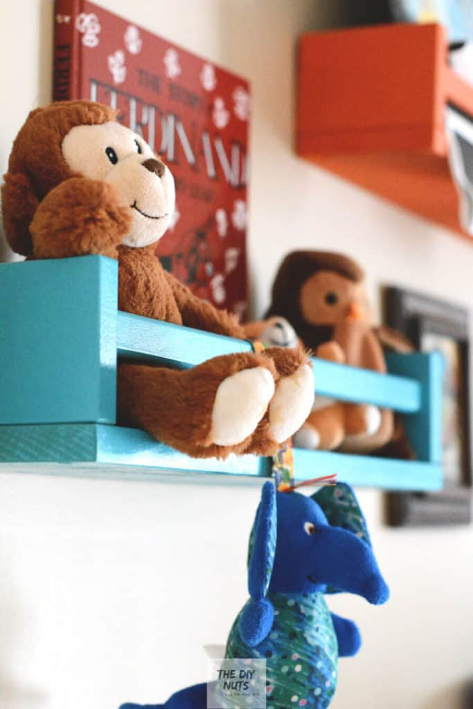 ikea hack ideas turning spice racks into shelves with toys and books.