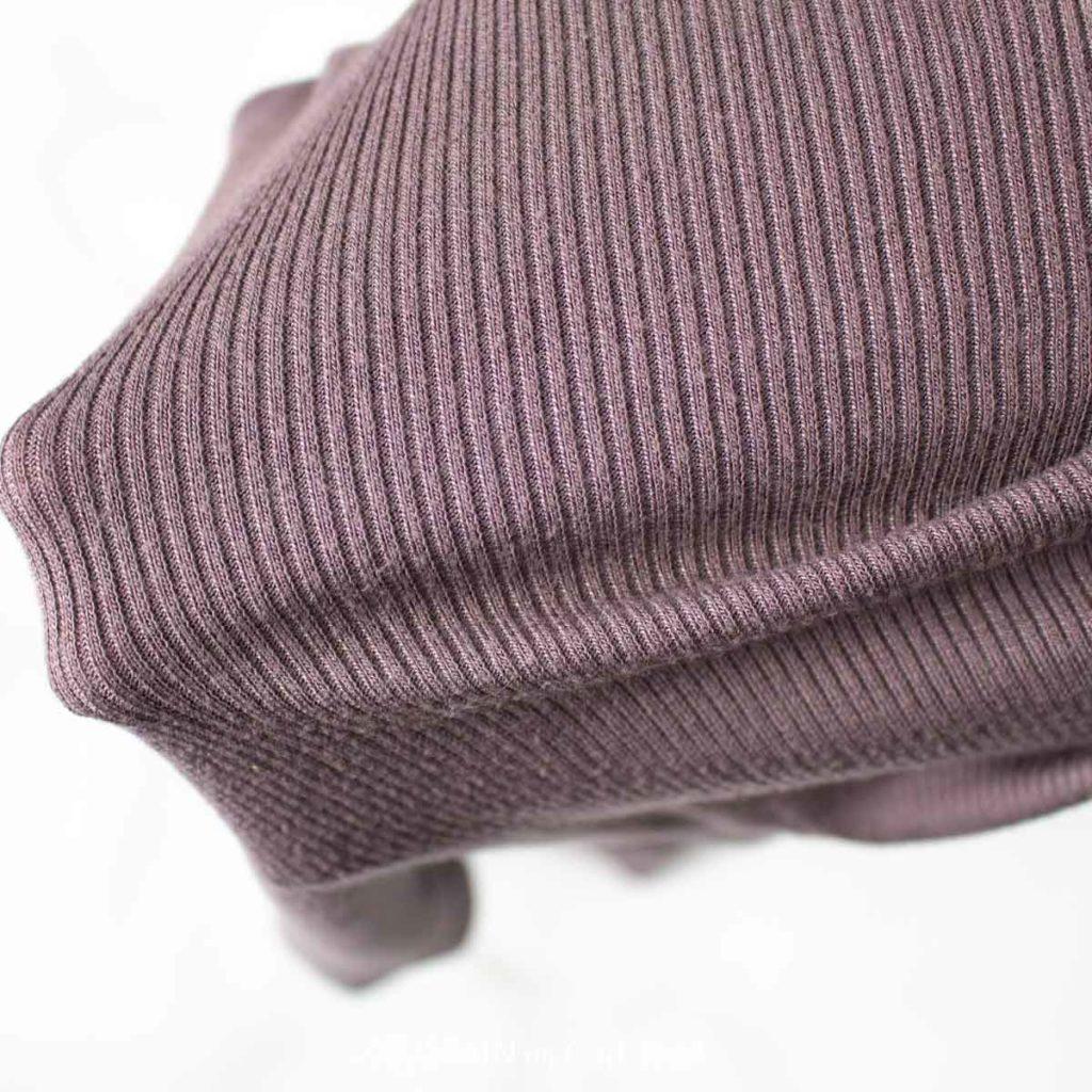 Purple rib tshirt fabric.