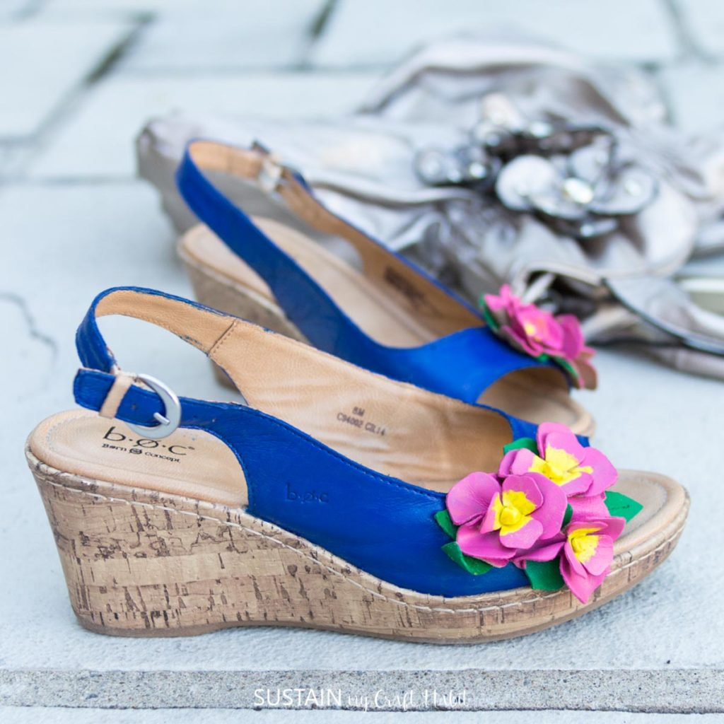 Finsihed pretty painted sandals.