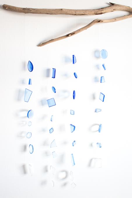 Resin seaglass wall hanging.