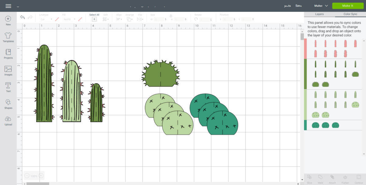 Duplicating and separating the Cactus images.