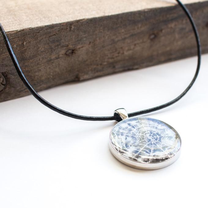 Halloween resin jewelry pendant.