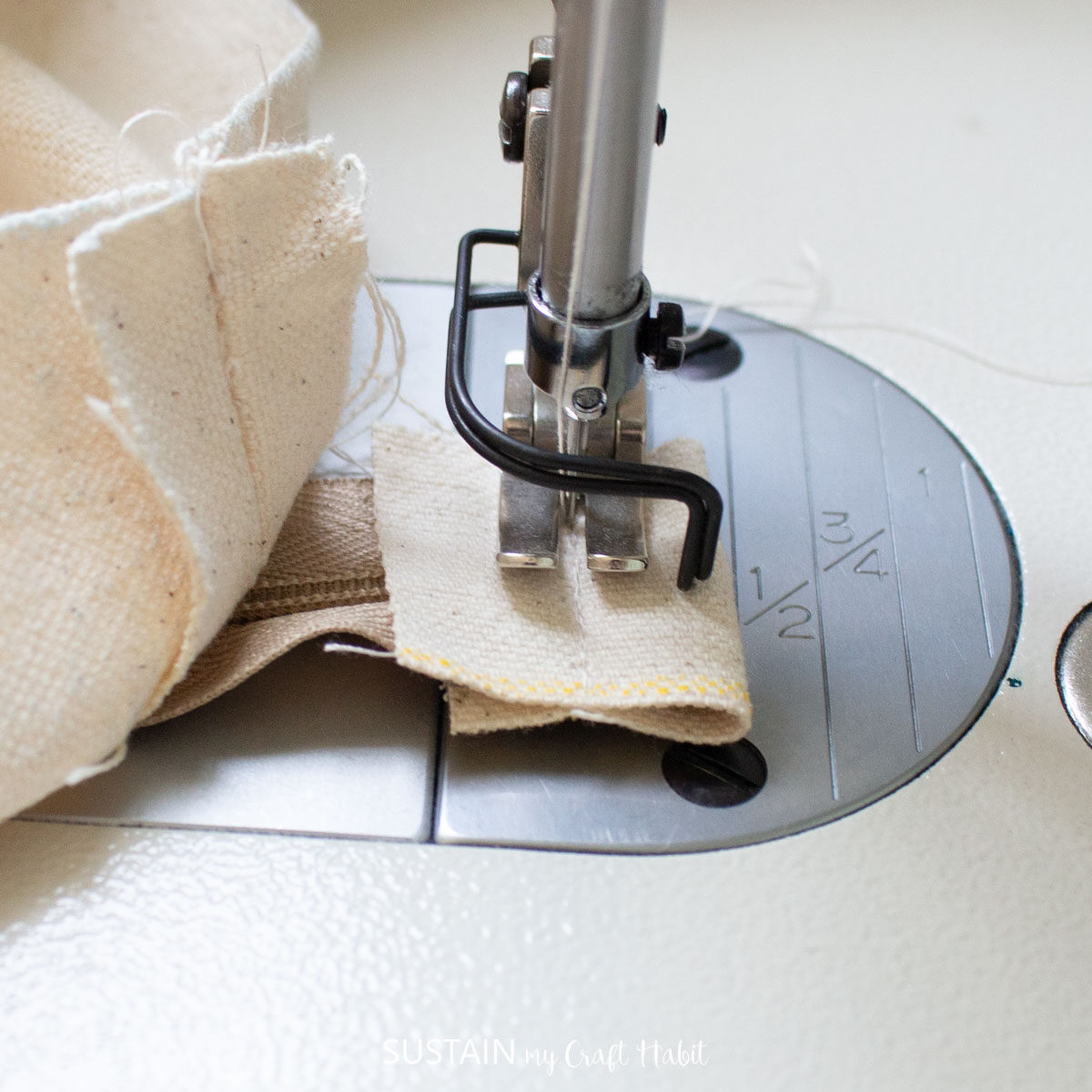 Folding and sewing the cut zipper.
