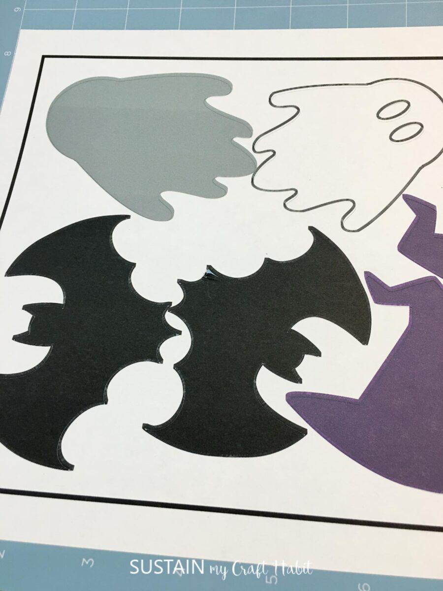 Printed Halloween characters.